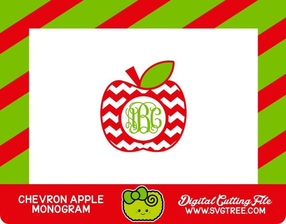 Teacher Monogram Svg Apple Monogram Svg Teacher Svg Commercial Etsy