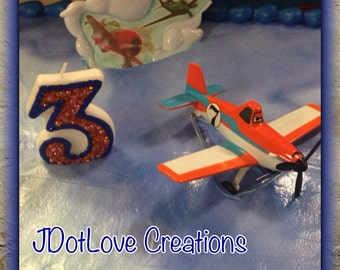 Planes - Dusty Inspired Birthday Candle - You Choose the Number