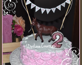 Cowgirl Inspired Birthday Candle - You Choose the Number