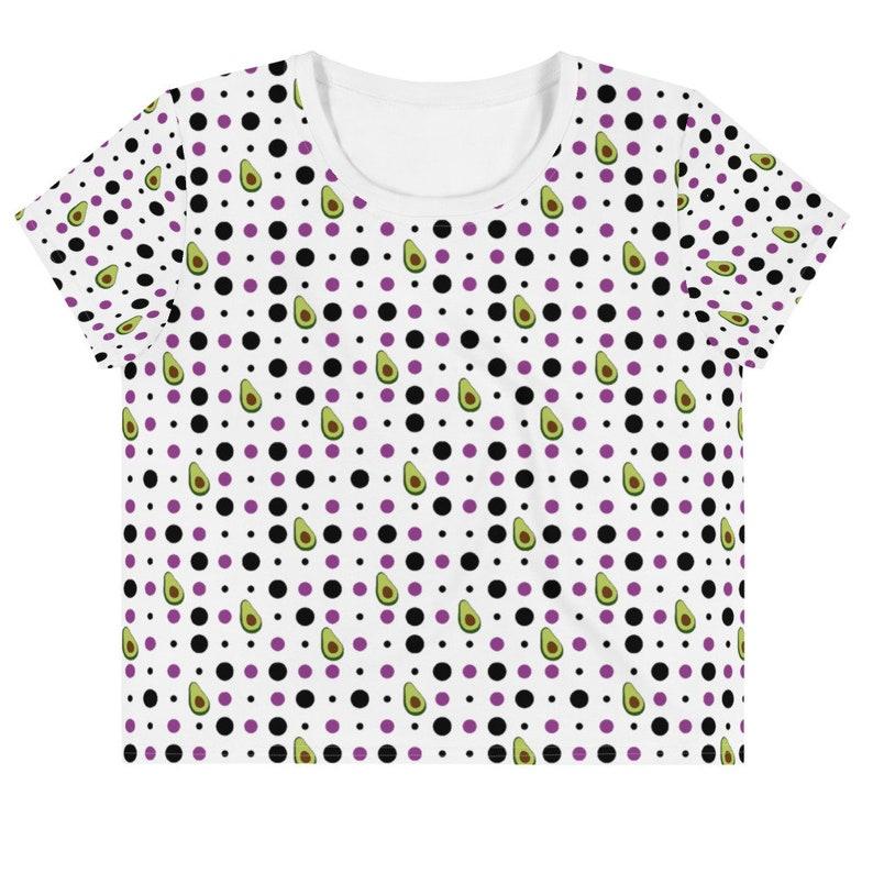 Avocado Spots Pattern Cropped T-shirt