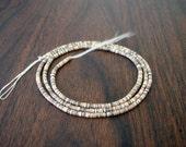 Voluta Shell Heishi Beads (4-5 mm, 24 Inches Strand)