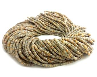kabibi Shell Heishi Beads (4 - 5 mm , 24 Inches Strand)