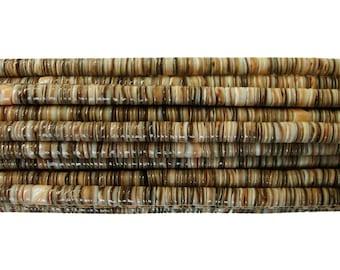Voluta Shell Heishi Beads (4 - 5mm, 24 Inches Strand)