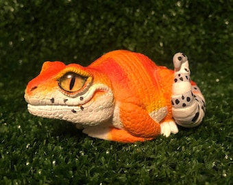 Tangerine gecko | Etsy