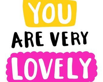 Funny romantic typographic lettering card.