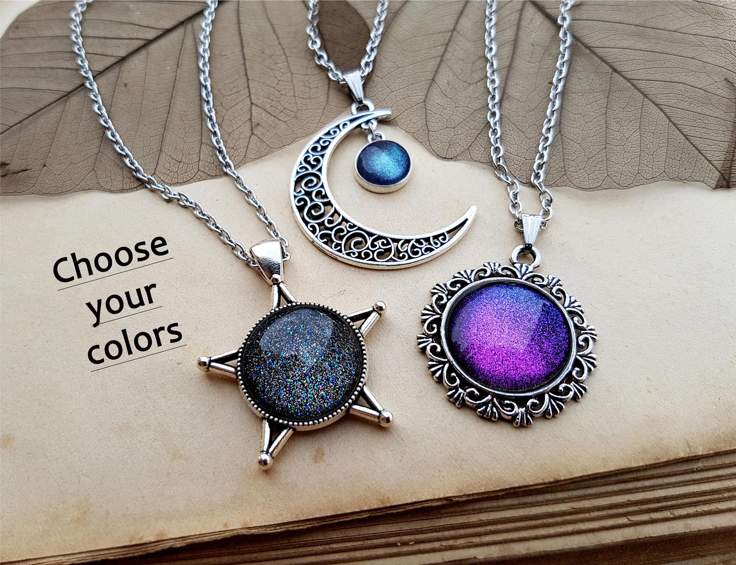 3 Sun Moon Star Necklaces best friends jewelry friendship ...