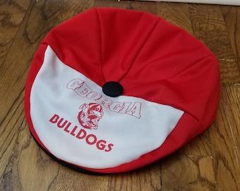 d15f91f9366 Vintage University of Georgia Flat Cap Hat Georgia Bulldogs Snap Front  Cabbie Hat Snap Back UGA Bulldogs College Football Vintage Hat SEC