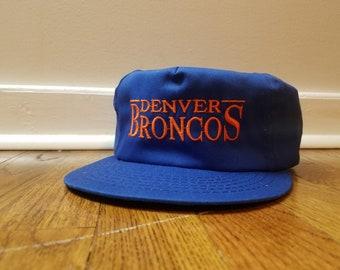 Vintage Denver Broncos Hat Blue 80 s 90 s Vintage Snapback Hat NFL Vintage  Football Hat Denver Colorado John Elway Sportswear 1da88f8ec