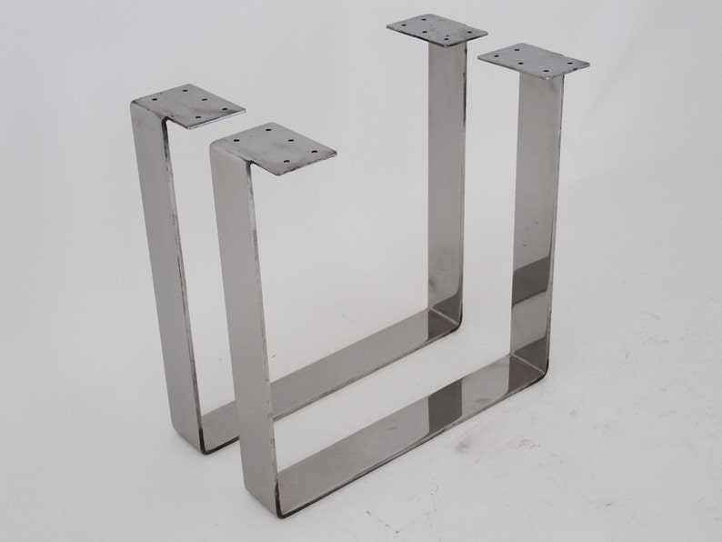 Stainless Steel Coffee Table Legs Bench Legs 16 Flat Table Legs Set 2