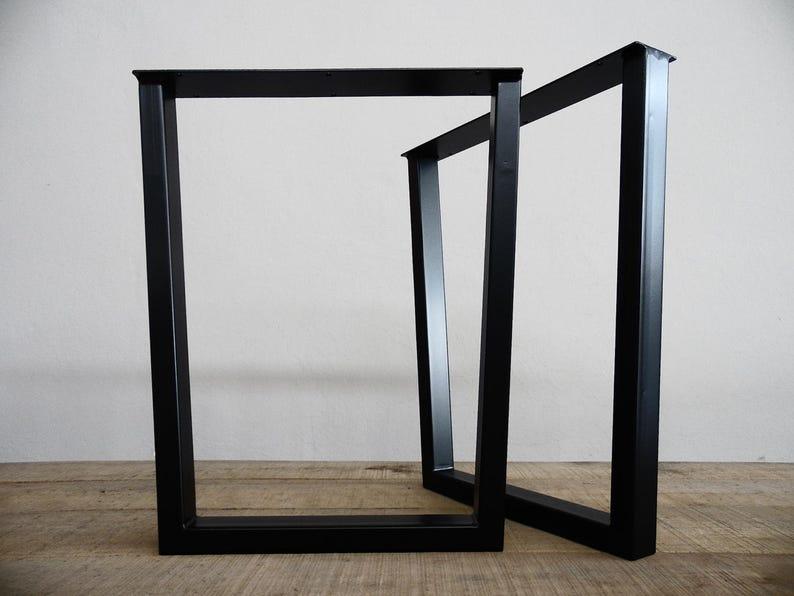 Trapez Bar Höhe Tisch Beine Metall 35 Stahl Rahmen Etsy