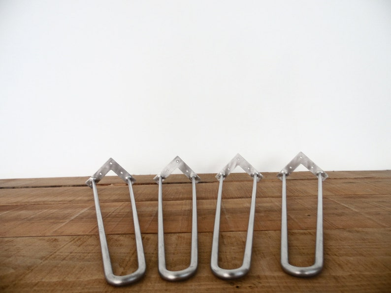 Metal Hairpin Table Legs Set 4 Stainless Steel Hairpin Legs Metal Dining Table Legs