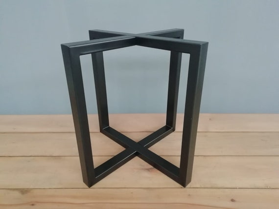 Metal Table Legs 28 Round Metal Dining Table Base Etsy
