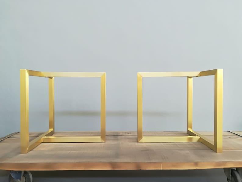 Modern Brass Dining Table Legs 28 X 35 X Etsy