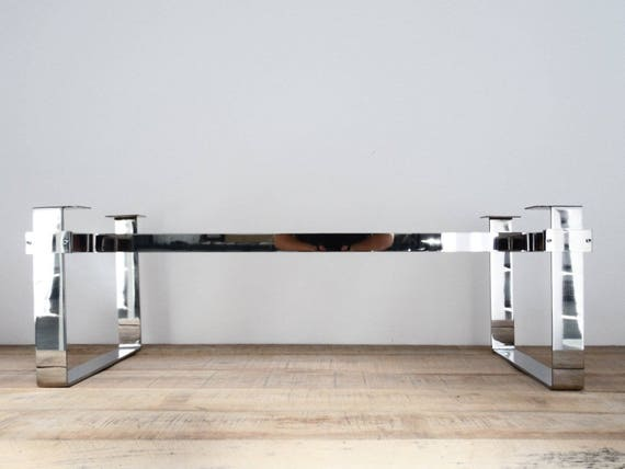 Table Base Stainless Steel Coffee Table Legs 15 X Etsy
