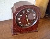 1930s Bakelite Smiths SEC 8 Day Black dial Clock in Great Working Order - Art Deco