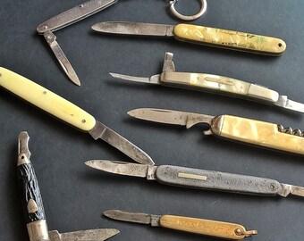 Vintage pocket Pen knives  Pearl,Richards,Mordan,Knife keyring...