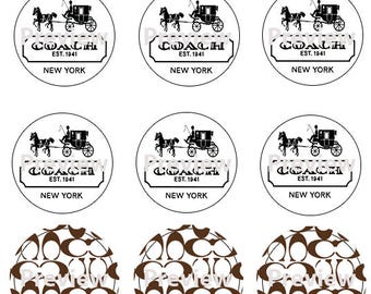 Coach Edible Image Cupcake Toppers