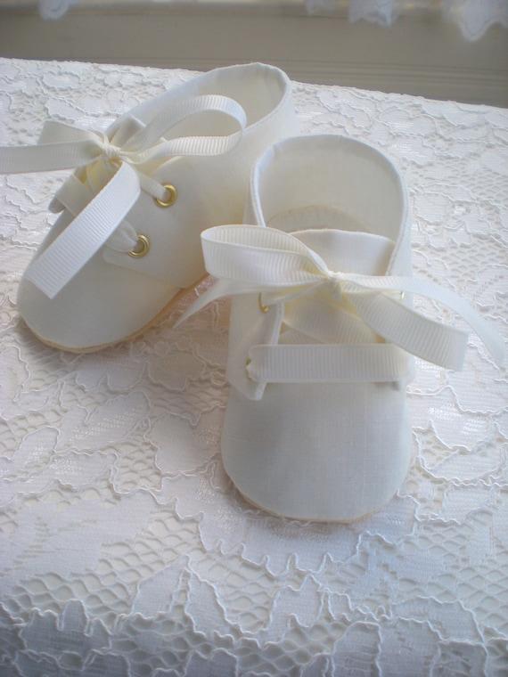 christening booties boy