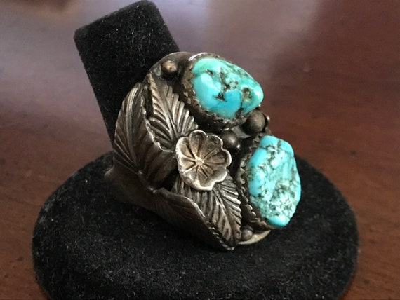 100/% Granted 925 Solid Sterling Silver Handmade Turquoise Gemstone Jewelry Antique Oxodiye Ring  MADE IN INDIA 51