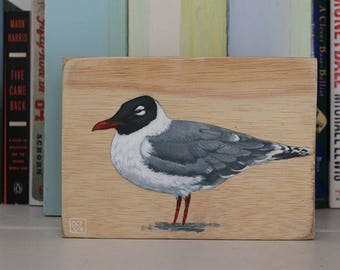 Seagull on Wood Original Acrylic Painting by Kat McD.