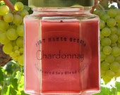 Chardonnay Scented Candle - Blended Soy Candle - Fruity Wine Fragrance Candle