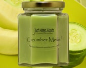 Cucumber Melon Scented Candles - Homemade Blended Soy Candle