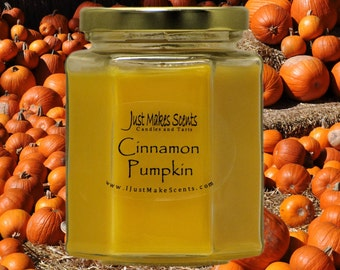 Cinnamon Pumpkin Scented Soy Candle - Autumn Scent Collection - Soy Candles - Sweet Cinnamon Pumpkin
