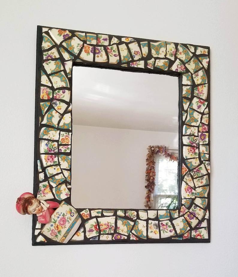 Mosaic Frame With Mirror Framed Mirror Mosaic Art Bedroom Etsy