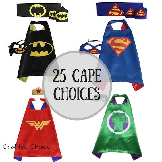 Supereroe mantello e maschera impostare 20 stili bambini alla  03c05fe114a
