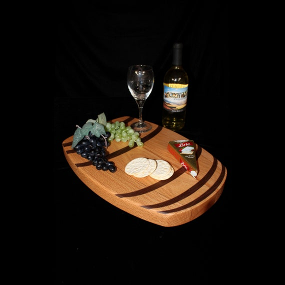 Custom Wine Barrel Cutting Board  / Charcuterie Board / Serving Board 6