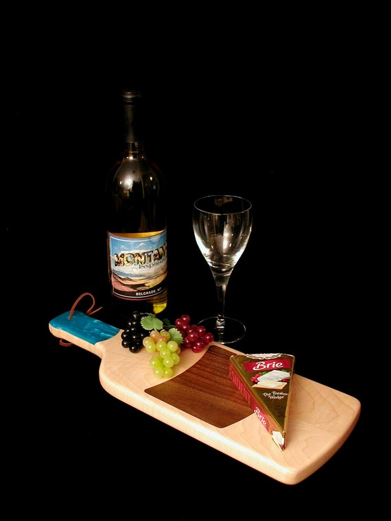 A Fun Custom Unique Handmade Wine Bottle Cheese Cutting Board 8