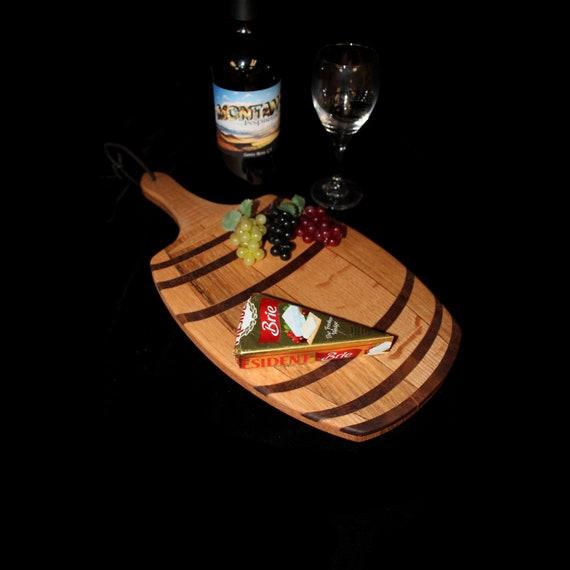 Custom Unique Fun Wine Barrel Cutting / Serving Board 4