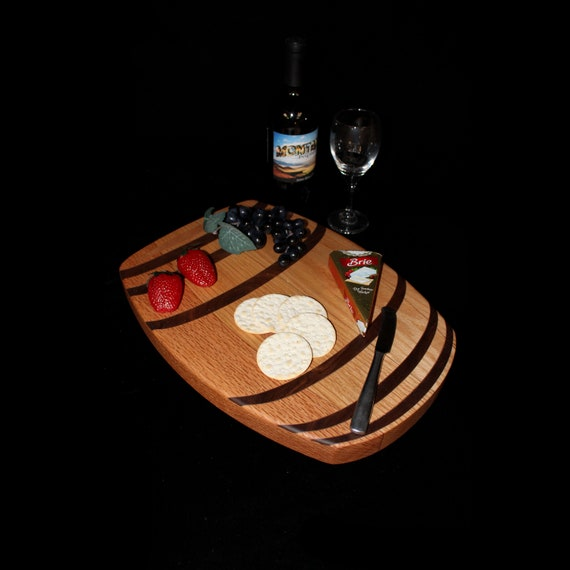 Custom Wine Barrel Cutting Board  / Charcuterie Board / Serving Board 1
