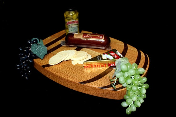 Custom Wine Barrel Cutting Board  / Charcuterie Board / Serving Board