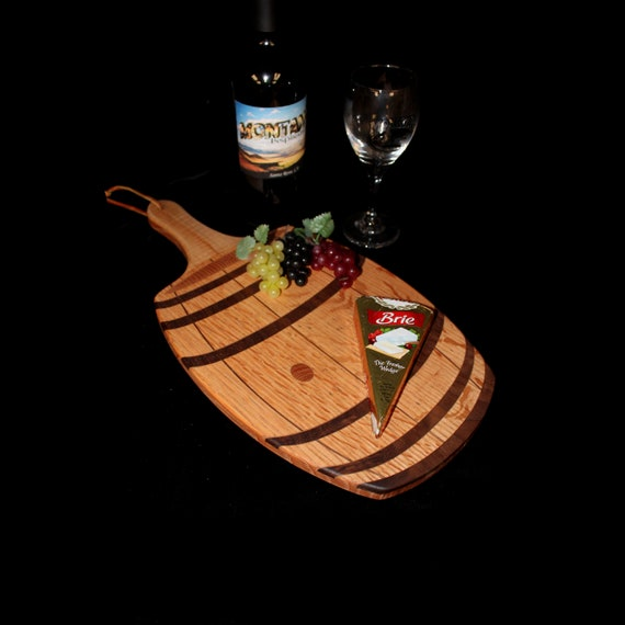 Custom Unique Fun Wine Barrel Cutting / Serving Board 5