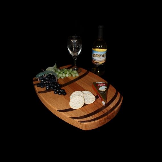 Custom Wine Barrel Cutting Board  / Charcuterie Board / Serving Board 7