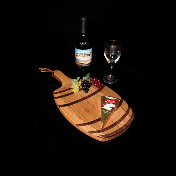 Custom Unique Fun Wine Barrel Cutting / Serving Board 3