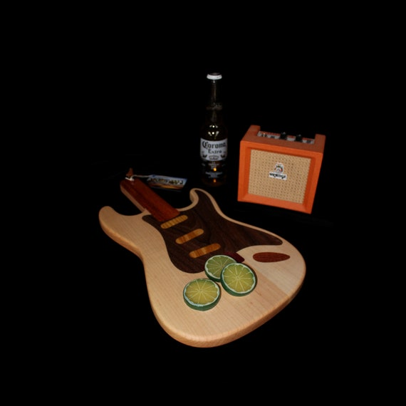 Custom Stratocaster Guitar Cutting Board #1