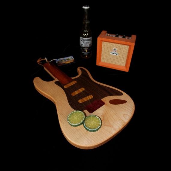 Custom Stratocaster Guitar Cutting Board #2