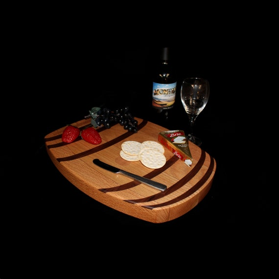 Custom Wine Barrel Cutting Board  / Charcuterie Board / Serving Board 3