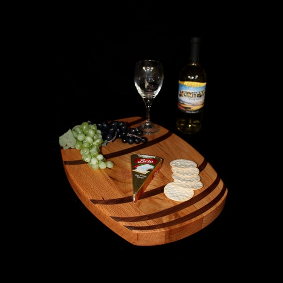 Custom Wine Barrel Cutting Board  / Charcuterie Board / Serving Board 5