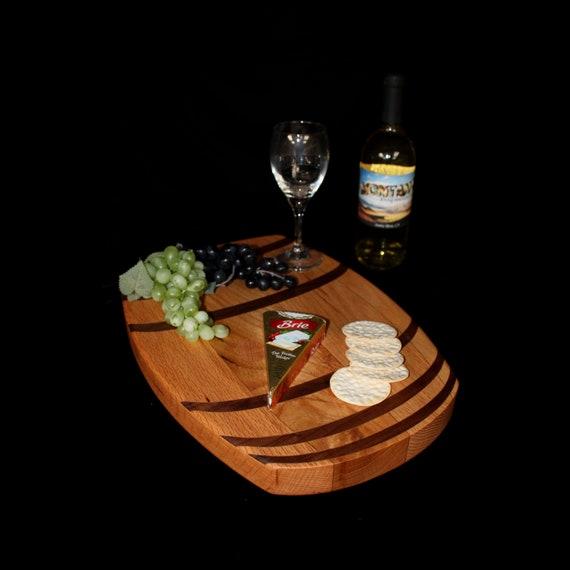 Custom Wine Barrel Cutting Board  / Charcuterie Board / Serving Board 5