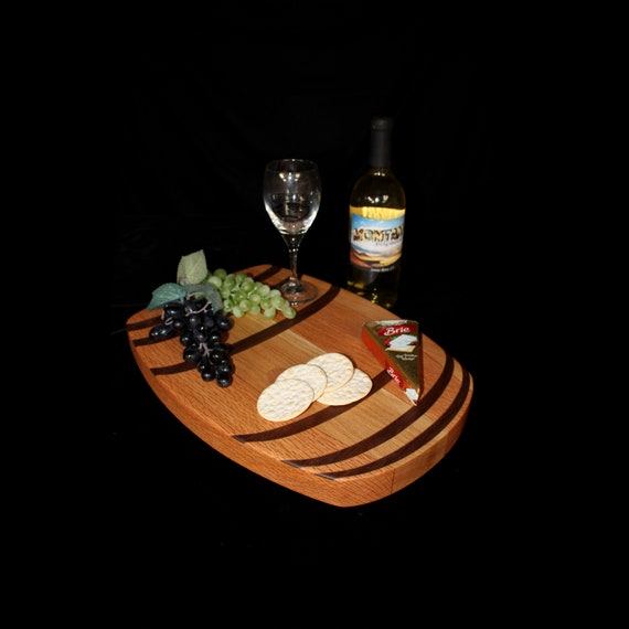 Custom Wine Barrel Cutting Board  / Charcuterie Board / Serving Board 8