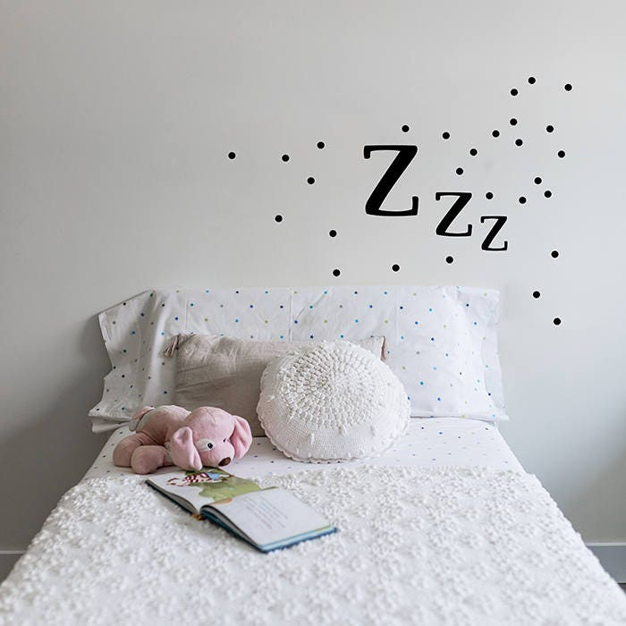 zzz wall decal. nursery differents colours wall stickers. | etsy