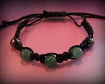 Green Aventurine, macrame bracelet, green bracelet
