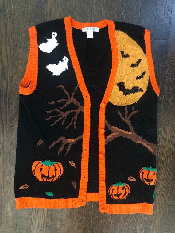 Vintage Halloween Hand-Knit Vest