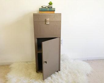 Industrial Filing Cabinet Box   Mid Century Modern   Rustic Office Decor    Organizer   Metal Storage Box   Minimalist   Primitive