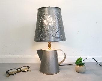 Attrayant Tin Table Lamp | Etsy