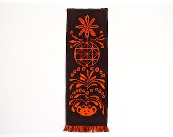 Mid Century Wall Hanging - Textile Art - Tapestry - Fiber Art - Geometric - Graphic