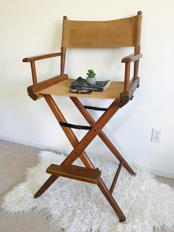 Miraculous Mid Century Modern Folding Directors Chair Wood Canvas Accent Stool Denmark Modern Minimalist Rustic Industrial Scandinavian Gmtry Best Dining Table And Chair Ideas Images Gmtryco